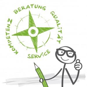 Kompass, Beratung Qualität Kompetenz Service